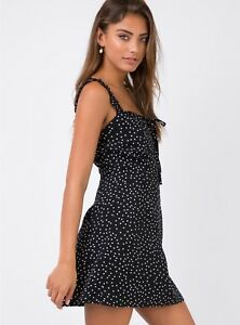 5449433b7bb Princess Polly Size 8 10 dress. polka dot black and white ...