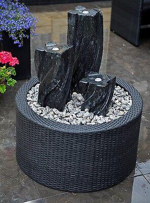 Ubbink Beckenumrandung für Gartenbrunnen DecoWall Wicker 1 NEUWARE