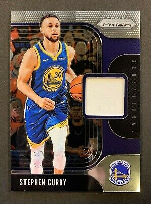STEPHEN CURRY 2019-20 Prizm Basketball Sensational Swatch - Game Used - Warriors