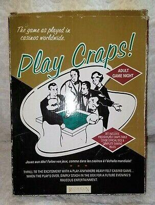 Craps Table Cover (PLAY CRAPS.RESTORATION HARDWARE.VINTAGE FELT CRAPS TABLE)