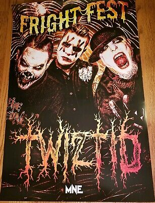 Twiztid - Fright Fest 2017 Tour Poster hallowicked insane clown posse - Twiztid Halloween