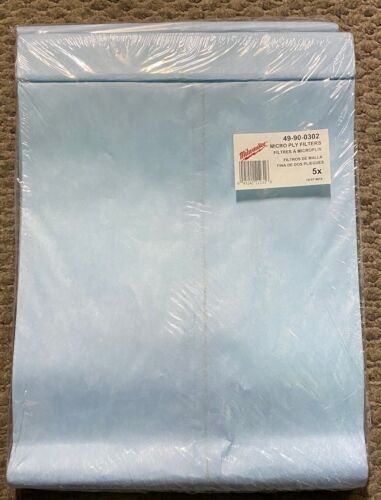 Milwaukee 49-90-0302 Paper Vacuum Filter Bags for 8911, 8912, & 8965 (5 Pack)