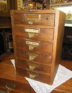 LOVELY VINTAGE INDUSTRIAL 6 DRAWER TOOL CHEST & FILE CABINET +++