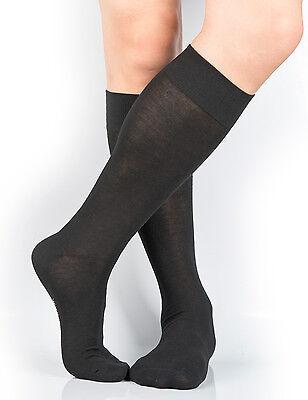 Cotton Nylon Knee High Socks - LOT Mens Cotton/Nylon Knee-High Dress Socks 4-10/7-12/13-15 Big and Tall Y2Y2