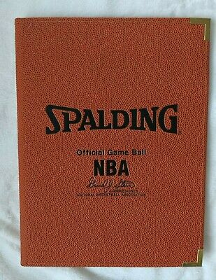 NBA Basketball Spalding Official Game Ball Coach Portfolio Folder Binder NEW (Coach Binder)
