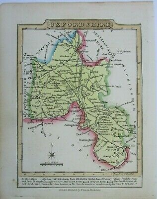 Antique map of Oxfordshire by William Lewis 1819