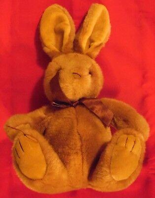 Plueschtier Hase , Kuschelwuschel , 38 cm x 25 cm x 12 cm  , hellbraun ,
