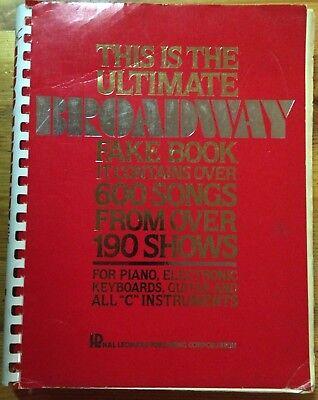 - The Ultimate Broadway Fake Book (1984, Paperback)