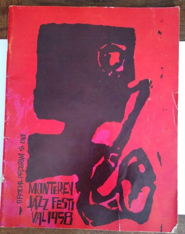 Vintage 1958 MONTEREY JAZZ FESTIVAL PROGRAM Dizzie Brubeck Billie BMW Ad