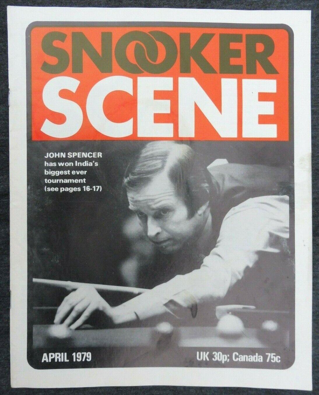 Snooker Scene Magazine, April 1979, Good Condition.