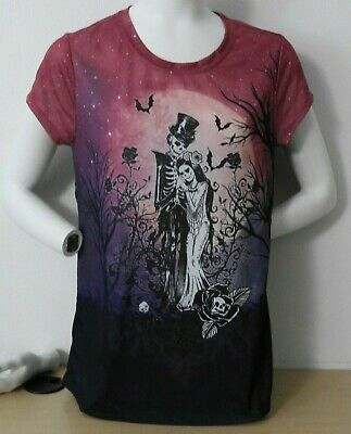 Full Moon Juniors T-shirt - TRUE LOVE Full Moon SKELETON BRIDE & GROOM T-Shirt TEE Juniors XL XXL NEW W/TAG!