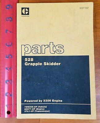 Caterpillar Cat 528 Grapple Skidder Parts Book Manual Sn 78w366 3306 Eng 8z977