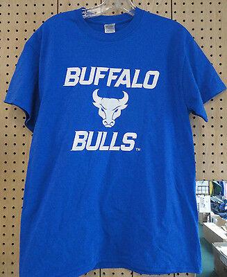 University At Buffalo UB Royal Blue T-Shirt Buffalo Bulls Size Med