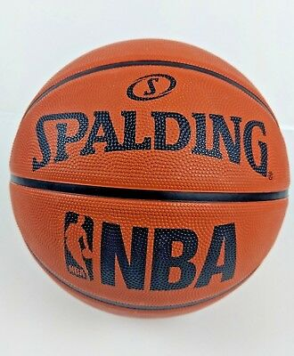 Used, Mens NBA Spalding Basketball Ball Official Size Men Rubber Outdoor Gym Sports for sale  Shipping to South Africa