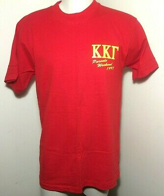 Vintage Fruit of Loom Made In USA Kappa Kappa Gamma T-Shirt Size L
