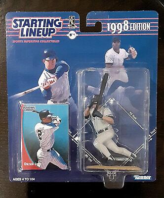 Derek Jeter 1998 98 Starting Lineup Figure SLU New NIP NIB with Sportscard Card