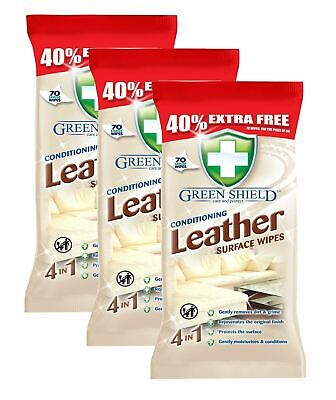 Clean & Shine Conditioning Leather Surface Wipes for Sofa, Chairs etc 210 Sheets