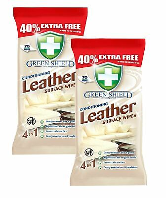 Clean & Shine Conditioning Leather Surface Wipes for Sofa, Chairs etc 140 Sheets