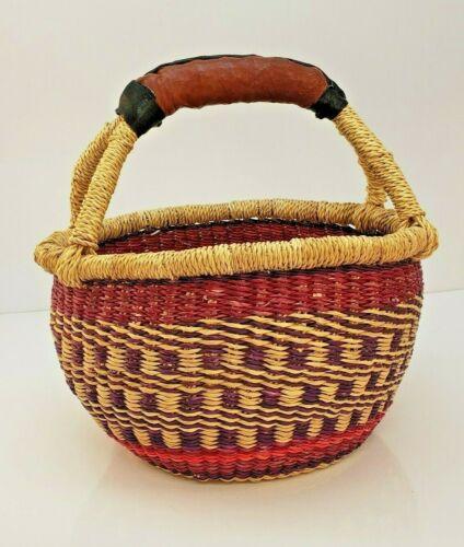 Hand Woven African Grass Basket Alaffia Fair Trade