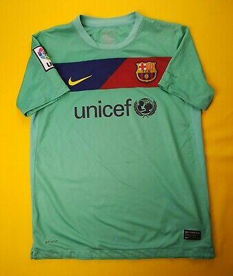 81b157ec447 5 5 Barcelona kids jersey 12-13 years 2010 2011 away shirt soccer Nike ig93