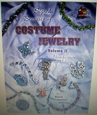 VINTAGE Signed JEWELRY PRICE GUIDE COLLECTORS BOOK Hardback Color Pics NEW COND.