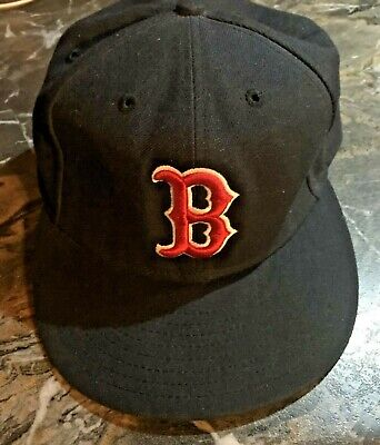 UsedEra MLB Boston Red Sox Authentic Game On-Field 59FIFTY Fitted Hat Size 7 1/4 Authentic Fitted Hat Game