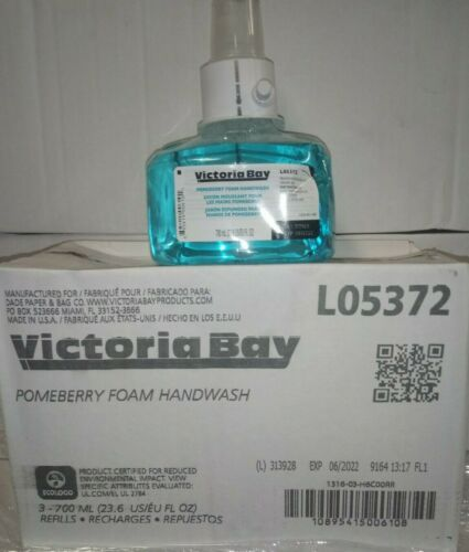 3 Pack Victoria Bay Pomeberry Foam Handwash Soap LTX-7 700 mL Exp date 06/2022