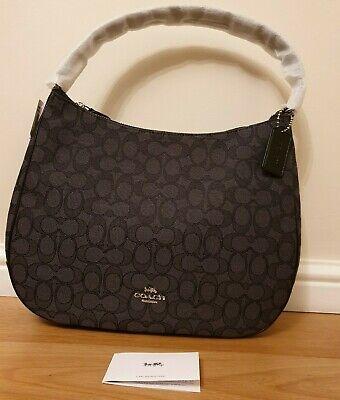 BNWT Coach F29959 Signature Jacquard Silver Black Zip-top Shoulder Bag, RRP £325