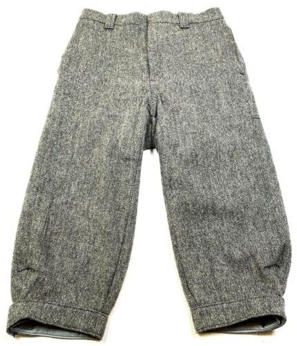 "Vtg Woolrich Gray Tweed Wool Equestrian High Waisted Breeches Pants 30"" Jodhpurs"
