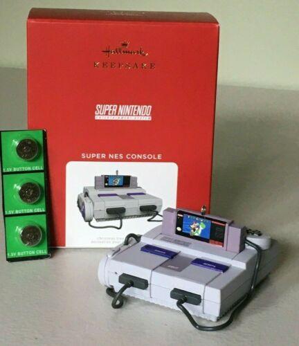 Hallmark 2021 Super Nintendo Ornament SUPER NES CONSOLE ~ NIB