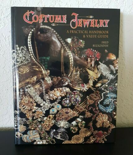 Costume Jewelry A Practical Handbook & Value Guide Rezazadeh 1998 HC BOOK Excell