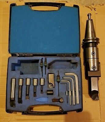 Pinzbohr Bohrstar 100 Triangular Boring Kit With Cat40 Tool Holder 1