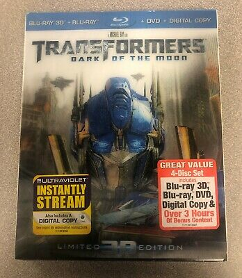 Blu-ray 3D + Blu-ray Disc + DVD + Digital Copy Transformers Dark of the (Transformers Dark Of The Moon 3d Blu Ray)