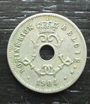 monnaie munt Belgique Belgie 5 cent 1904 légende flamande