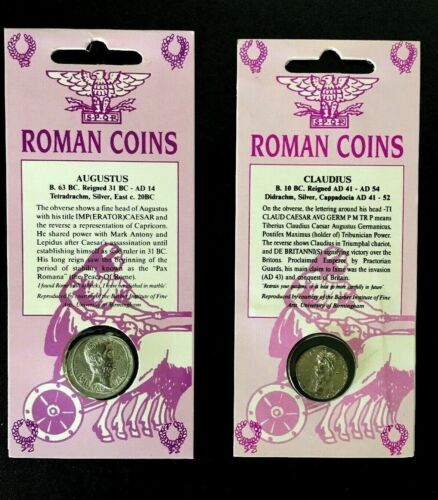 Set of Two Double-Sided Ancient Roman Coin Replicas • FREE SHIPPING!