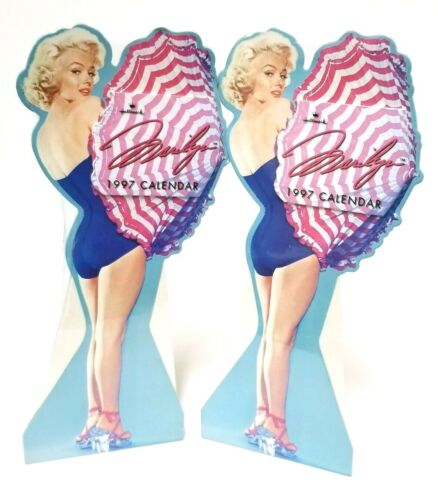 "Marilyn Monroe 1997 Hallmark Calendar 11"" LOT OF 2 New Sealed Vintage NOS"
