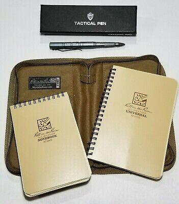 RITE IN THE RAIN 973T Notebook Kit, Tan Cordura Cover C980 & Tactical Pen  (Notebook Bundle Kit)