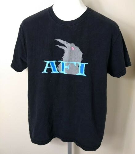 2003 Vintage AFI A Fire Inside The Despair Faction Band Crow Shirt Size LARGE