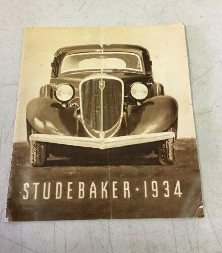 Original 1934 Studebaker President Commander Dealer Sales Brochure 26 Pages