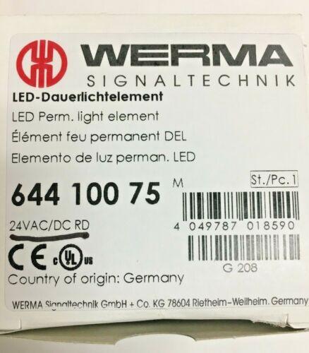 New Werma Signaltechnik Led Light Red 644.100.75 64410075