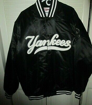 NWT DEADSTOCK MAJESTIC AUTHENTIC COLLECTION  NY YANKEES BLACK  SATIN JACKET XLG