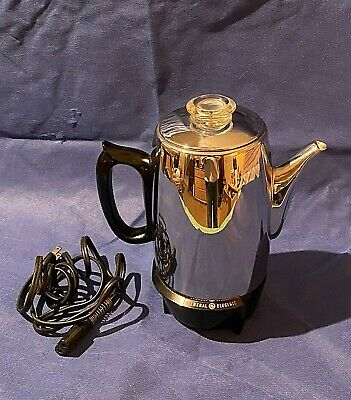 Vintage General Electric 9 Cup Electric Coffee Percolator Pot Maker Made in USA