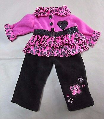"Doll Clothes ""American Fashion World"" Top & Pant Outfit Hot Pink fits 18"" Doll"