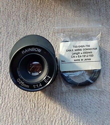 RAINBOW G25MM 1:1.4 E-II Video Type Auto-Iris, C-Mount Lens. 1