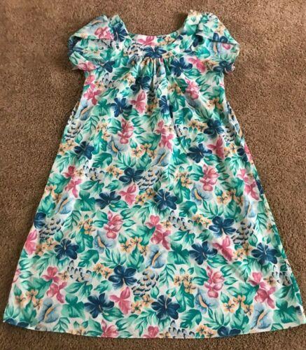 Royal Creations Hawaiian Aloha Muted Floral MuuMuu/Dress/Cover Up Size Medium