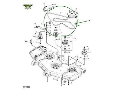 John Deere 737 757 777 797 ZTrack 60 inch Mower Deck Belt TCU13198 New OEM