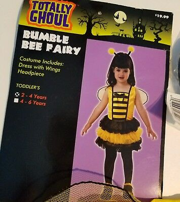 Toddler Girls Totally Ghoul Brand Bumble Bee Lady Bug Angel Fairy 2-4 4-6 years