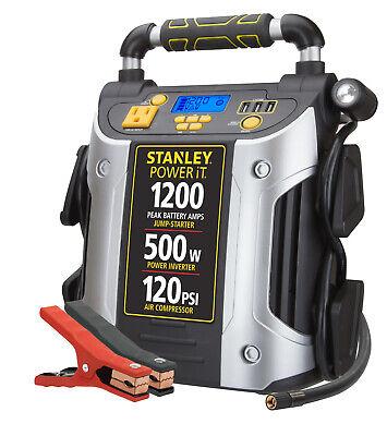 Stanley J5CPD Jump Starter/Power Station 1200 Peak Amp with 500 watt inverter