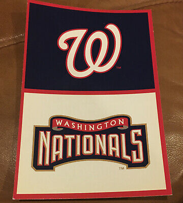 2 Postcards WASHINGTON NATIONALS Baseball Post Cards