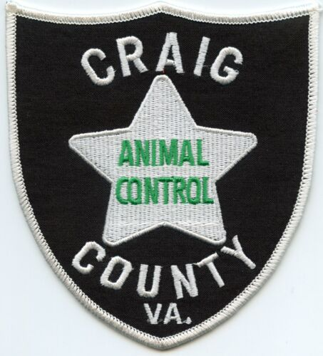 CRAIG COUNTY VIRGINIA VA ANIMAL CONTROL SHERIFF POLICE PATCH